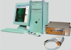 Ultrasound system / on platform, fixed / for skin ultrasound imaging DUB® 100 - 12 Bit taberna pro medicum