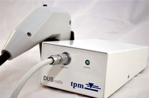 Ultrasound system / on platform, fixed / for skin ultrasound imaging DUB®cutis taberna pro medicum