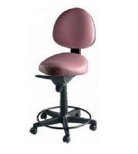 Dental stool / on casters / height-adjustable / with backrest 1381 ETI Dental Industries
