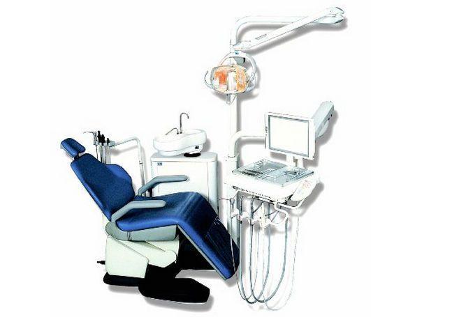 Dental treatment unit with electro-mechanical chair 2614 ETI Dental Industries