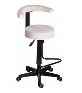 Dental stool / on casters / height-adjustable / with backrest 354 ETI Dental Industries