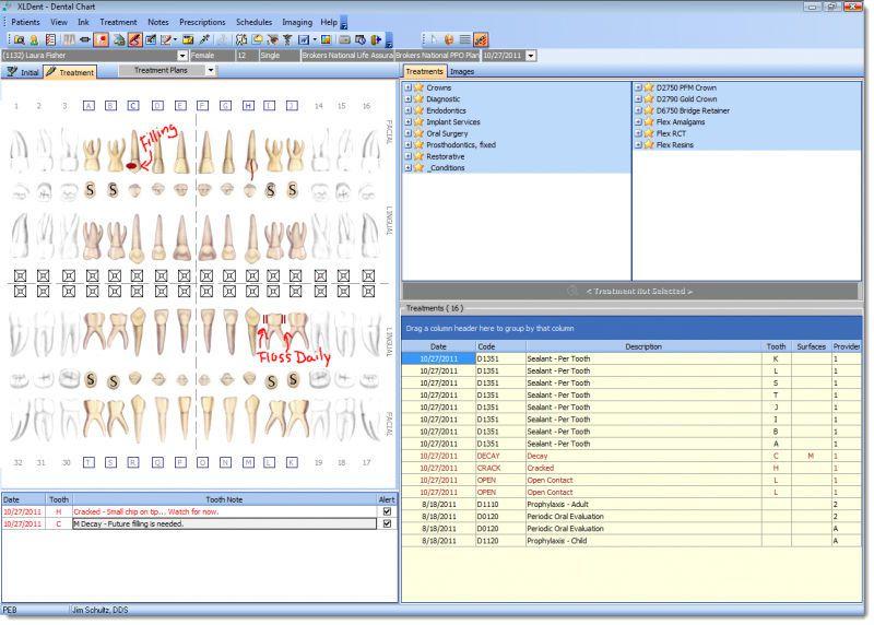 Management software / medical / dentist office XLCHART XLDent