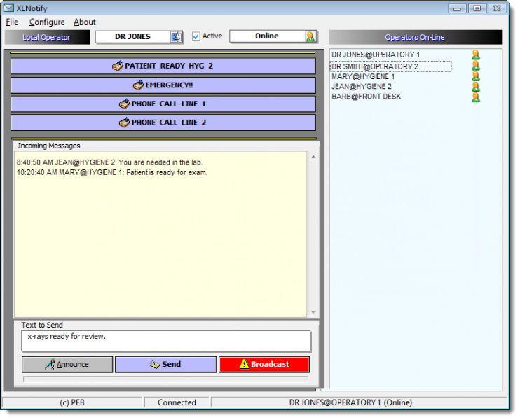Management software / medical / dentist office XLNOTIFY XLDent