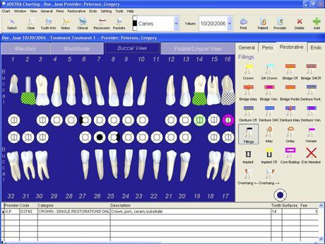 Management software / endodontic / periodontal / dentist office ADSTRA Charting™ ADSTRA