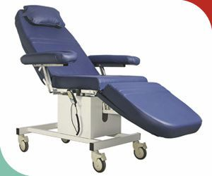 Electrical blood donor armchair / on casters LDC-11 / LDC-12 / LDC-13 Skylab Instruments & Engineering
