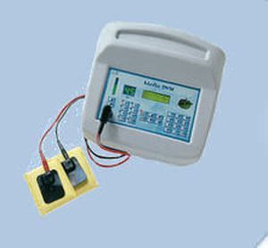 Iontophoresis unit (physiotherapy) / electro-stimulator MEDIO DYN / 18 PROGRAMS Iskra Medical