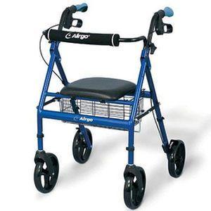 4-caster rollator / height-adjustable / with seat Airgo® Lightweight Airgo