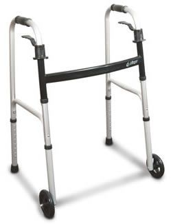 Folding walker / height-adjustable / with 2 casters Airgo