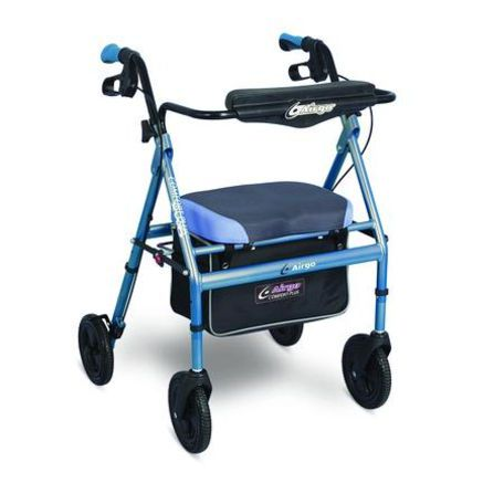 4-caster rollator / with seat / height-adjustable Airgo® Comfort-Plus™ XWD Airgo