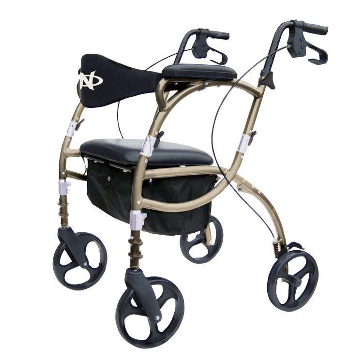 4-caster rollator / with seat / height-adjustable Airgo® Navigator Airgo