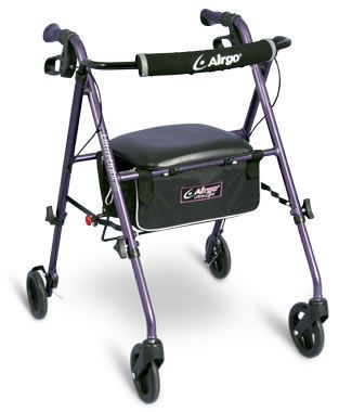 4-caster rollator / height-adjustable / with seat Airgo® Ultra-Light 6 Airgo