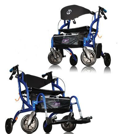 4-caster rollator / folding / height-adjustable / with seat Airgo® Fusion™ Airgo