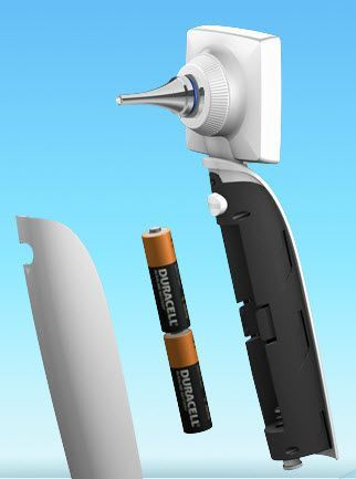 Otoscope video endoscope / with speculum / rigid / with integrated video monitor MS101 Apple BioMedical