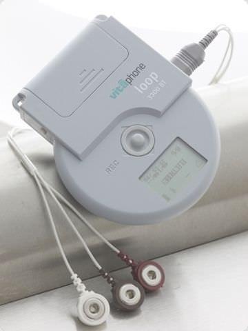 Wireless cardiac Holter monitor TELE ECG LOOP RECORDER 3100 BT Vitaphone