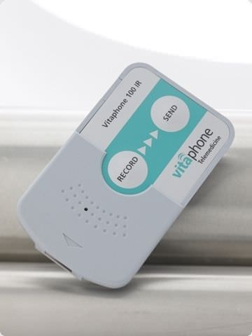 Wireless cardiac Holter monitor TELE ECG CARD 100 IR Vitaphone