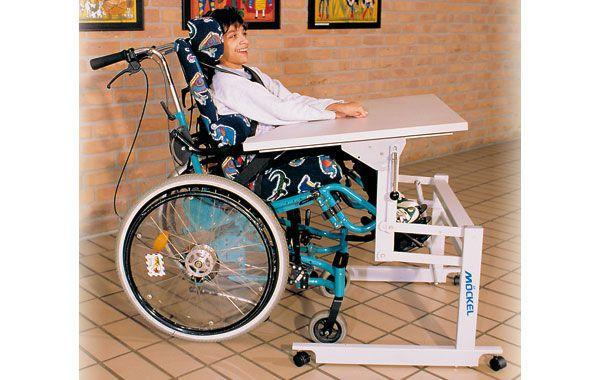 Pediatric ergotherapy table / on casters / height-adjustable ERGO S 52 R Möckel Feinmechanik