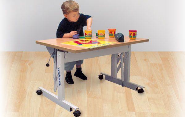 Pediatric ergotherapy table / on casters / height-adjustable ERGO S 52 Möckel Feinmechanik