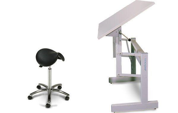 Height-adjustable ergotherapy table ERGO F 72 Möckel Feinmechanik