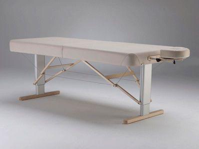 Manual massage table / folding / height-adjustable / portable LINEA Clap Tzu