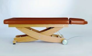 Electric spa table / on casters / height-adjustable / 2 sections HAVANNA AYURVEDA Clap Tzu