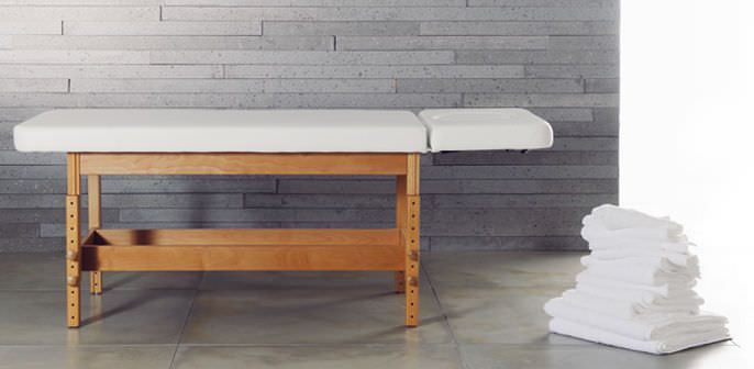 Manual spa table / height-adjustable / 2 sections STABILO Clap Tzu