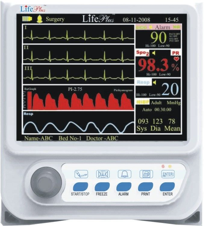 Compact multi-parameter monitor LPM-109 Life Plus Medical