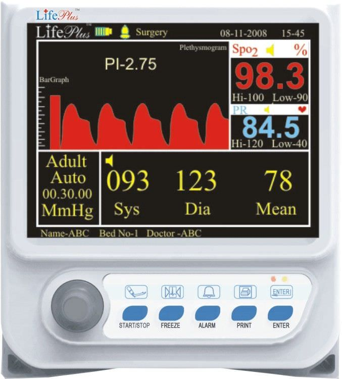 NIBP patient monitor / SpO2 LPM-104 Life Plus Medical