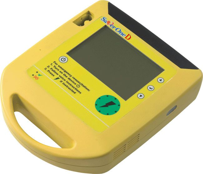Semi-automatic external defibrillator / with ECG monitor 200 - 360 J | Saver One-D A.M.I. ITALIA