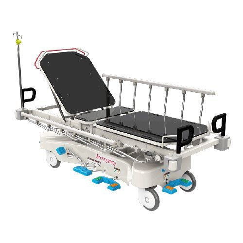Transport stretcher trolley / X-ray transparent / height-adjustable / hydraulic JE-350 Joson-care Enterprise Co., Ltd.