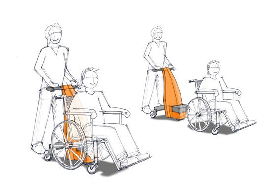Wheelchair transfer trolley / universal / electrical Beagle Mobility