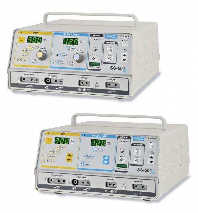 Bipolar coagulation HF electrosurgical unit / bipolar cutting / monopolar coagulation / monopolar cutting SS-501 E/S WEM