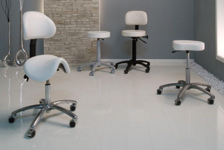 Medical stool / height-adjustable / on casters Gharieni