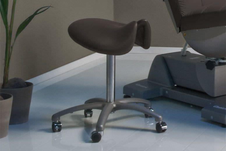 Medical stool / on casters / height-adjustable / saddle seat Large Gharieni
