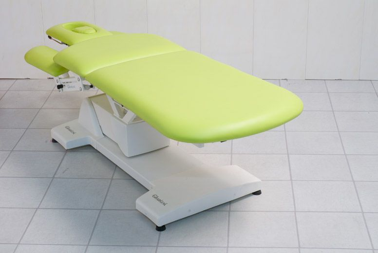 Electrical massage table / height-adjustable / on casters / 3 sections MLK Physio Gharieni