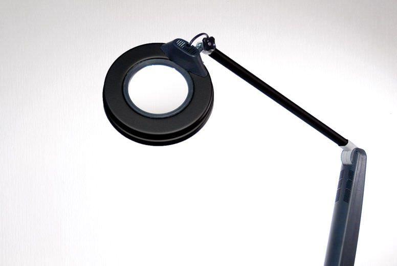 Magnifying examination lamp De Luxe PLUS Black Gharieni