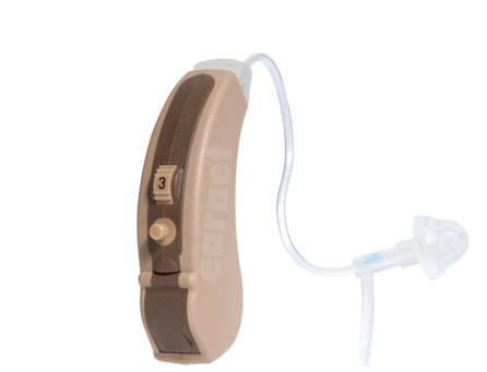 Behind the ear, hearing aid with ear tube Optima 34F Ear Teknik