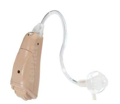 Behind the ear, hearing aid with ear tube BY F Ear Teknik