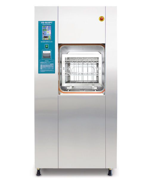 Medical autoclave / vertical / with sliding door 250 l | HS-5025PT Hanshin Medical