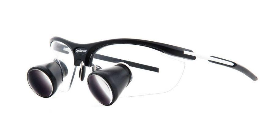 Magnifying loupe with frames TTL comfort Optiloupe