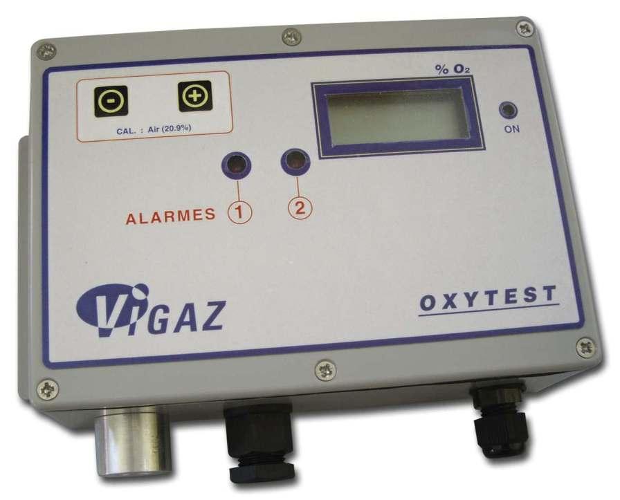 Atmosphere oxygen analyzer 0.0 - 50% O2 | OXYTEST VIGAZ