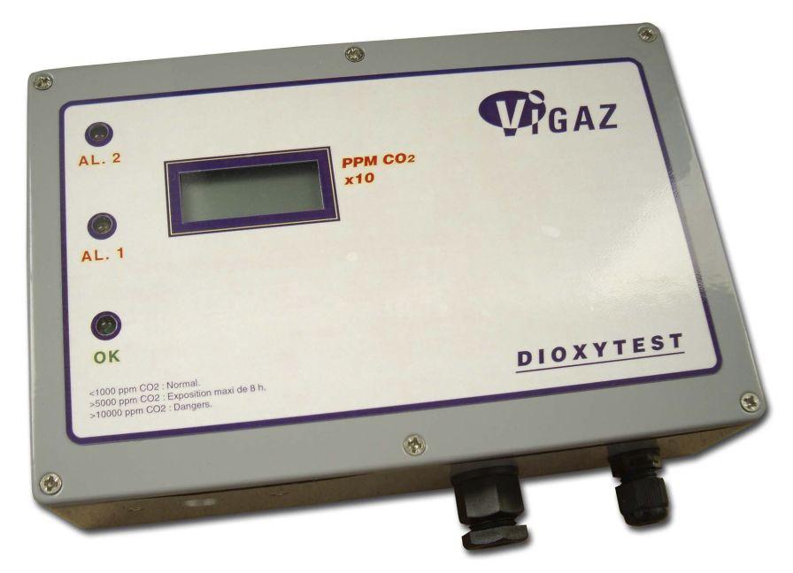 Atmosphere carbon dioxide analyzer 10 - 10 000 ppm CO2 | DIOXYTEST II VIGAZ