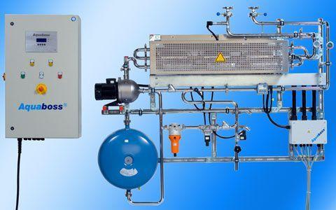 Hemodialysis water treatment plant / hot water rinse / reverse osmosis 9 W, 18 kW   Aquaboss® SMART 10/20 Lauer Membran Wassertechnik