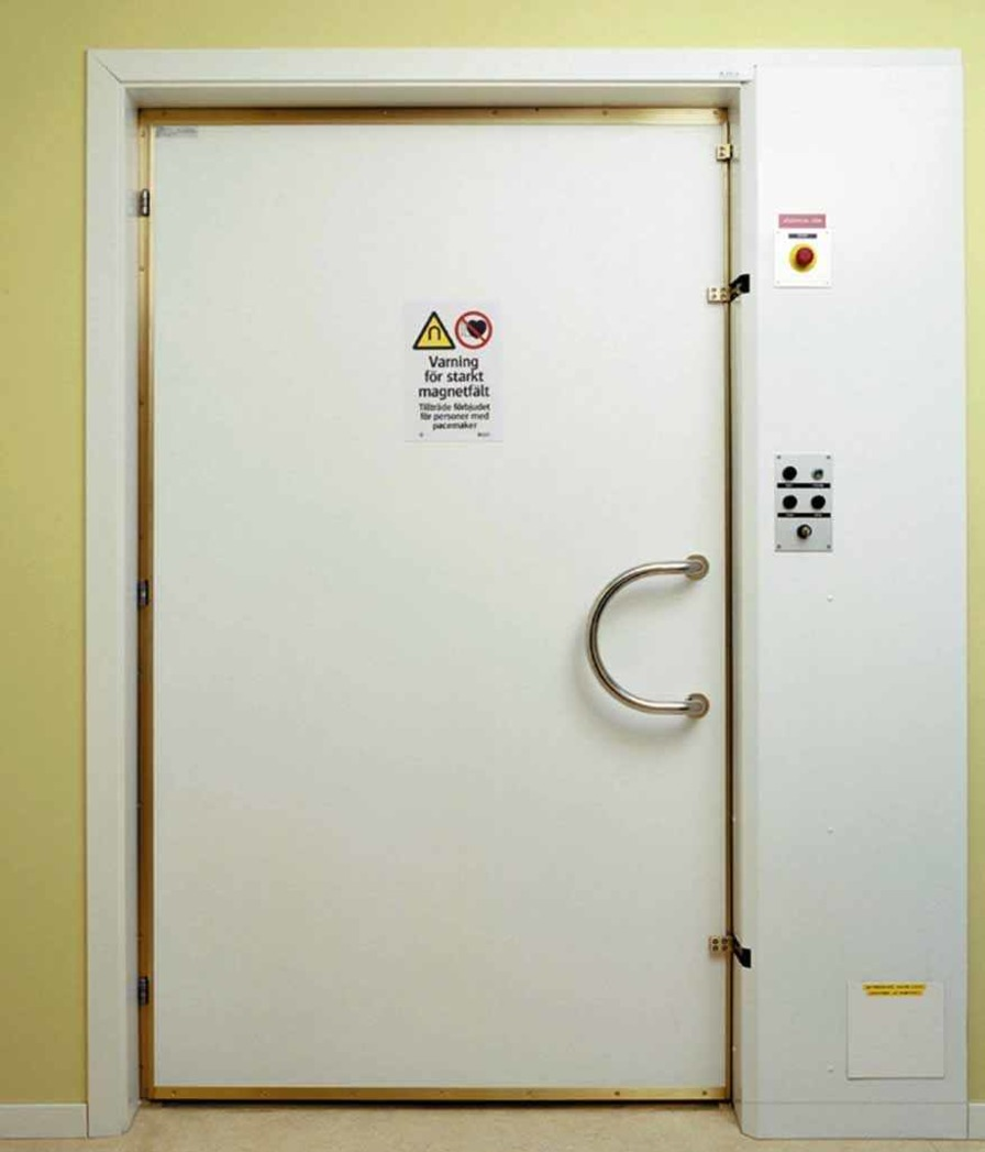 Automatic door / swinging / RF-shielded / for MRI IMEDCO