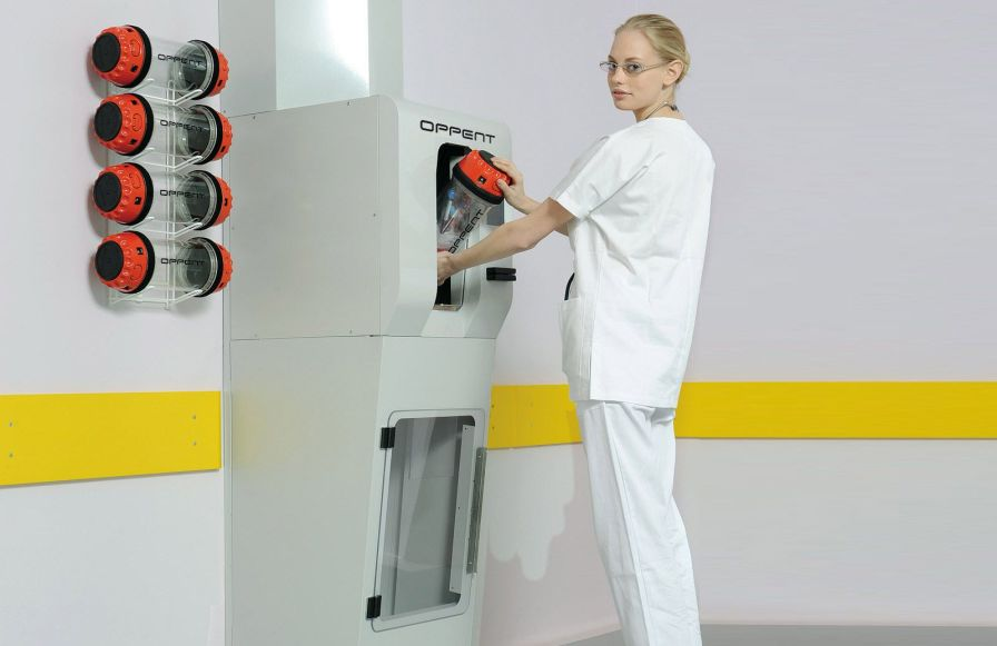 Pneumatic tube system hospital HPTS Oppent