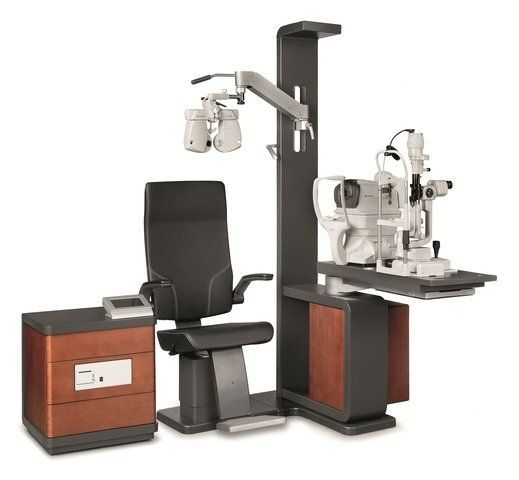 Ophthalmic workstation / with chair / 1-station IS-1 Topcon Europe Medical