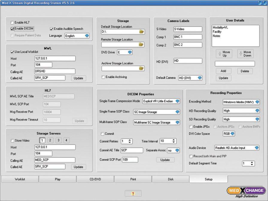 USB video recorder / high-definition DRSHD 1080p Med X Change