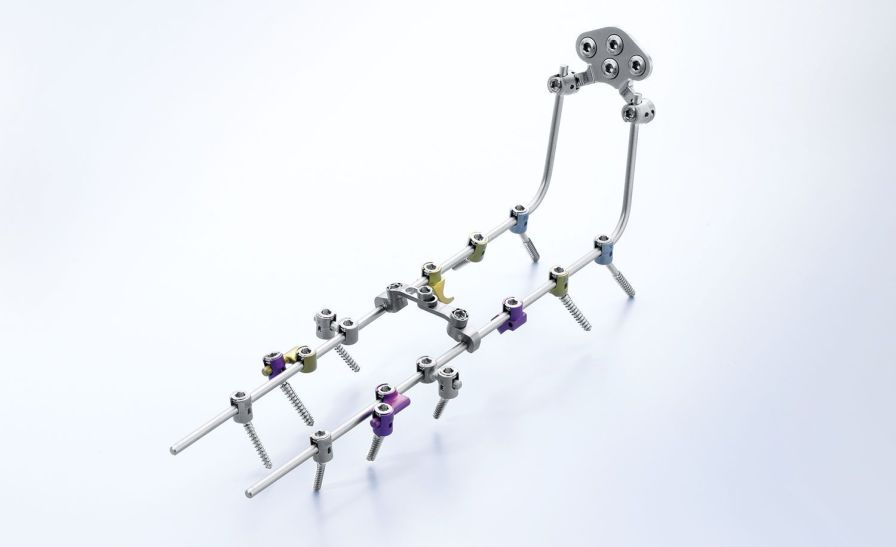 Occipito-cervico-thoracic spinal osteosynthesis unit / posterior S4® Cervical Aesculap - a B. Braun company