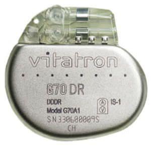 Implantable cardiac stimulator Vitatron G70 DR Vitatron