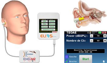 (audiometry) / otoacoustic emission measurement system / digital TEOAE Echodia