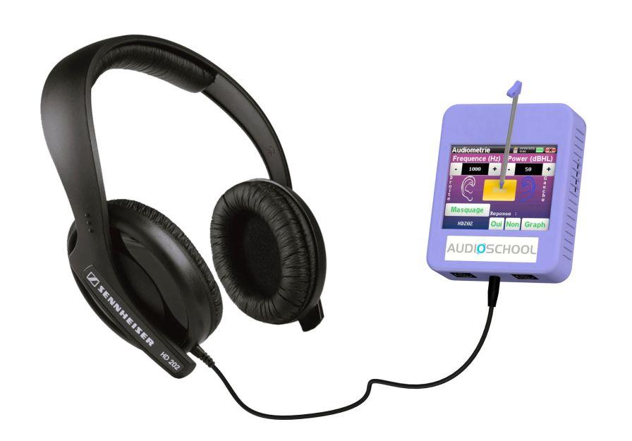 Audiometer (audiometry) / screening audiometer / digital / portable AUDIOSCHOOL Echodia